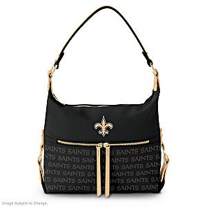 New Orleans Saints Hobo-Style Handbag