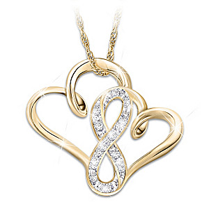 """A Mother & Daughter's Forever Love"" Diamond Necklace"