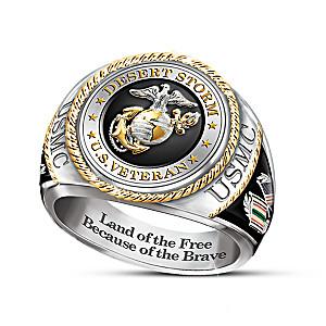USMC Veteran 30th Anniversary Desert Storm Men's Ring