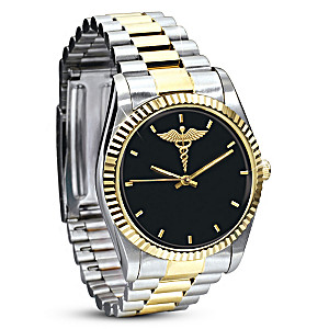 """""""Caring & Compassion"""" Stainless Steel Men's Watch"""