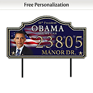 President Barack Obama Personalized Outdoor Address Sign