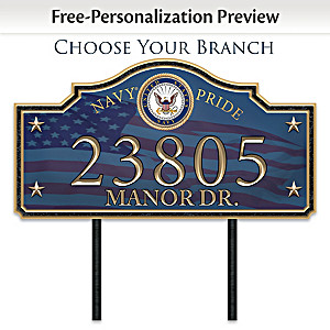Military Personalized Address Sign: Choose Your Branch
