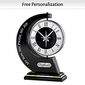 """My Son, My Pride, My Joy"" Personalized Rotating Clock"