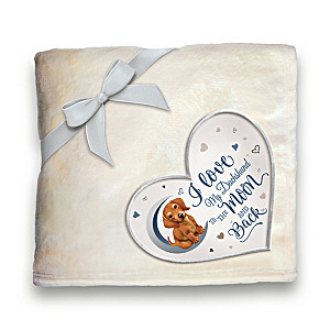 Dachshund Plush Blanket With Heart-Shaped Applique