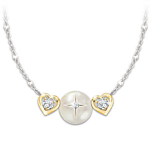 Religious Mother Of Pearl Necklace For Granddaughters