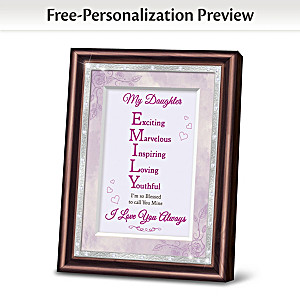 Daughter Framed Poem With Name And Personality Traits