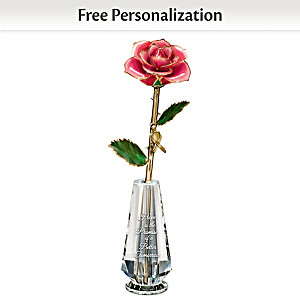 Breast Cancer Awareness Personalized Real Rose Centerpiece