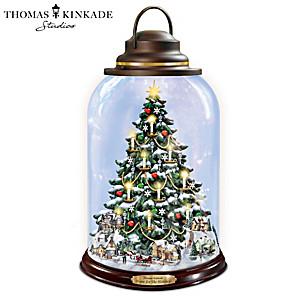 "Thomas Kinkade ""Traditions Of Joy"" Illuminated Lantern"