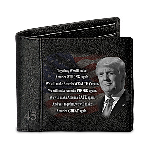 President Donald Trump RFID Blocking Men's Leather Wallet