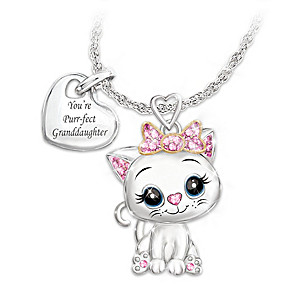 """You're Purr-fect To Me"" Necklace For Granddaughters"