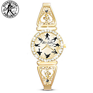 Rockin' Elvis Presley Rotating Watch With White Crystals