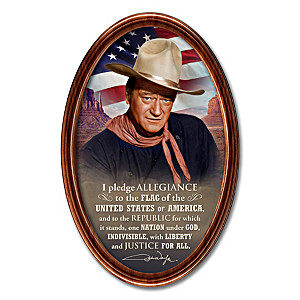 "John Wayne ""The Pledge Of Allegiance"" Collector Plate"