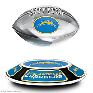 Chargers Levitating Football Lights Up And Spins