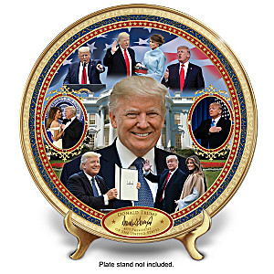 President Donald Trump Heirloom Porcelain Collector Plate
