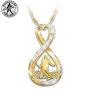 """""""Elvis Forever"""" 18K Gold-Plated Infinity Pendant Necklace"""