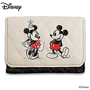 Mickey Mouse And Minnie Mouse RFID Blocking Tri-Fold Wallet