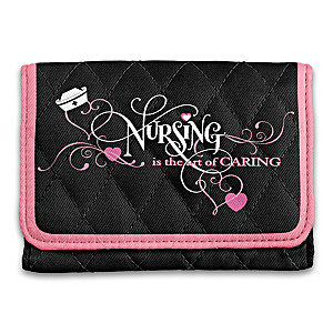 """The Art Of Caring"" RFID Blocking Tri-Fold Wallet For Nurses"