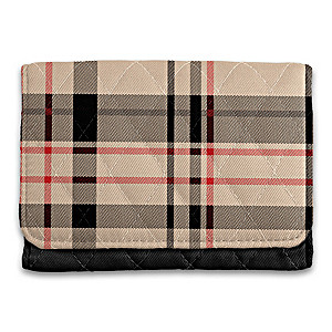 """All About Plaid"" RFID Blocking Tri-Fold Wallet"