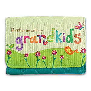 """Lori Siebert """"Grandkids Rule!"""" RFID Blocking Tri-Fold Wallet"""
