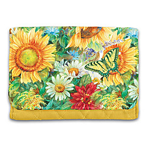 "Lena Liu ""Sunflower Splendor"" RFID Blocking Tri-Fold Wallet"