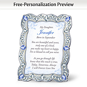 """""""Daughter, You Are A Treasure"""" Personalized Framed Poem"""
