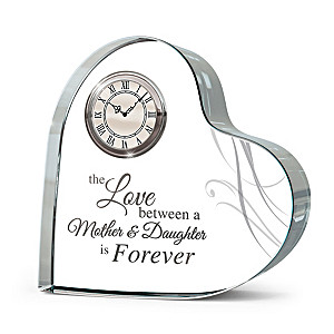 """Forever Loved"" Mother-Daughter Crystal Clock"