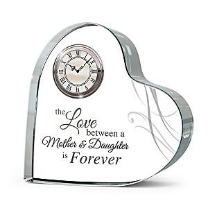 """Forever Loved"" Mother-Daughter Crystal Clock"
