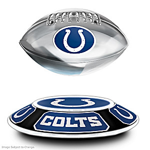 Colts Levitating Football Lights Up And Spins