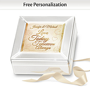 Romantic Couple's Music Box Personalized With Your 2 Names