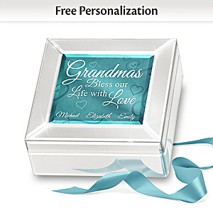 Mirrored Glass Music Box Personalized For Grandmothers