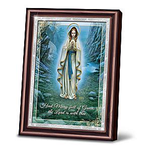 "Hector Garrido ""Our Lady Of Lourdes"" Virgin Mary Framed Art"