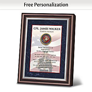 "James Griffin ""Semper Fidelis"" Personalized Marine Frame"