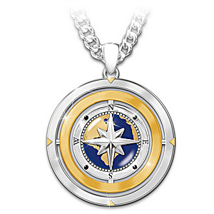 """""""Wherever Life Takes You"""" Flip Pendant Necklace For Grandson"""