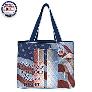 """Always Remember"" September 11 Quilted Tote Bag"