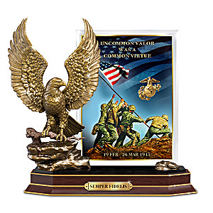75th Anniversary Iwo Jima Plaque With Eagle Sculpture