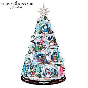 Thomas Kinkade Tree With Color-Changing Lights And Music