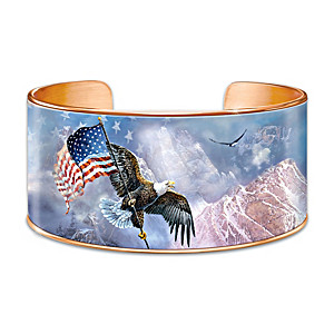 """Ted Blaylock """"AmeriStrong"""" Copper Cuff Bracelet"""