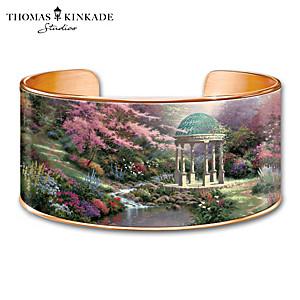 "Thomas Kinkade ""Serenity's Garden"" Copper Cuff Bracelet"
