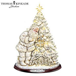 Thomas Kinkade Illuminated Glitter Christmas Tree