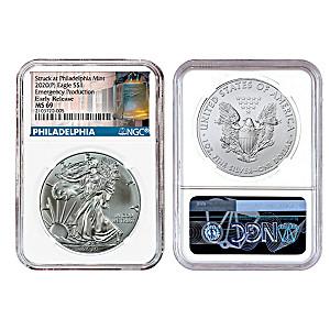 """2020 """"Emergency"""" American Eagle Silver Dollar Coin"""