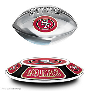 49ers Levitating Football Lights Up And Spins
