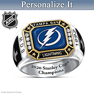 Lightning® Stanley Cup® Champions Personalized Ring