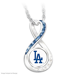 Dodgers 2020 World Series Champions Infinity Pendant