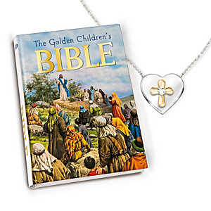 Trust In The Lord Necklace And Bible Set For Granddaughters