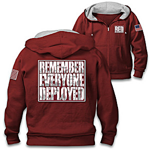 Remember Everyone Deployed Cotton-Blend Knit Hoodie