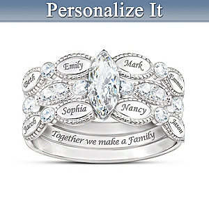 Together We Are Family Stacking Ring Personalized With Names