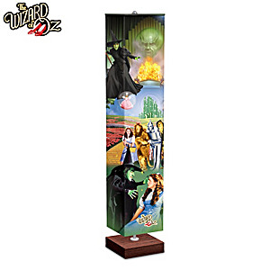 THE WIZARD OF OZ Floor Lamp With Art On 4-Sided Fabric Shade