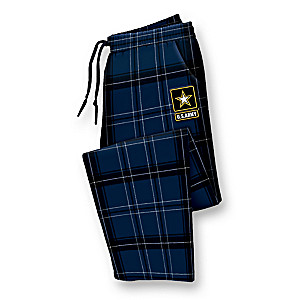 Army Cotton Flannel Men's Pants With Emboridered Patch
