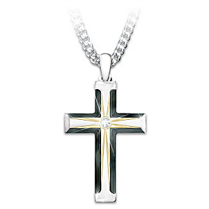 """""""God Loves My Grandson"""" Cross Necklace With Lighted Box"""