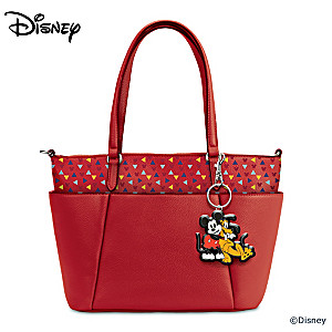 """Best Of Pals"" Mickey Mouse And Pluto Faux Leather Tote Bag"
